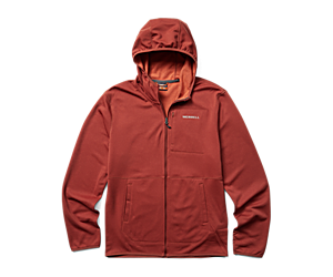 Terrain Geotex Full Zip Hoodie, Brick Heather, dynamic