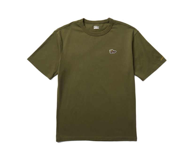 Moab Icon Tee, Dusty Olive, dynamic