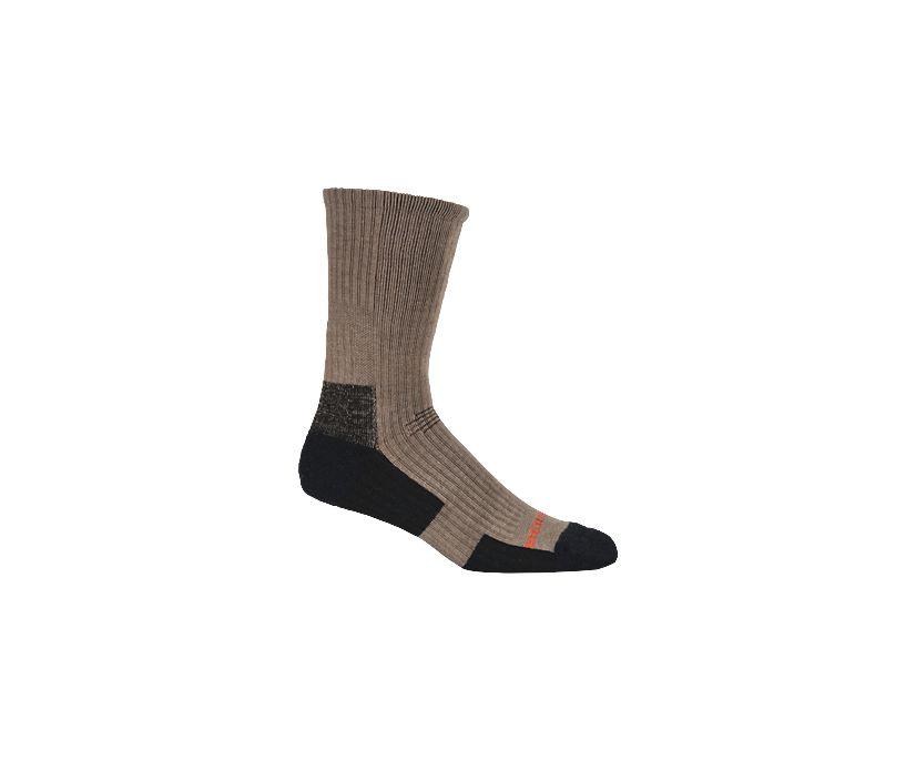 Tactical Crew Sock, Brown, dynamic
