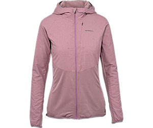 TrekPro Mid-Layer Hooded Full Zip Jacket, Very Grape, dynamic