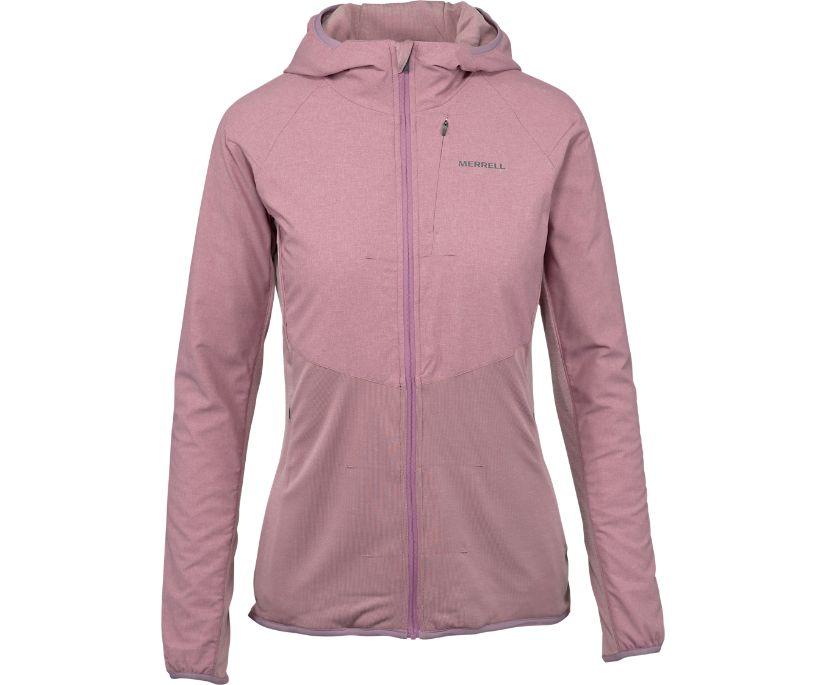TrekPro Mid-Layer Hooded Full Zip Jacket, Very Grape, dynamic