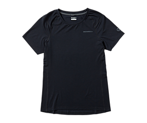 Tencel® Short Sleeve Tee with drirelease® Fabric, Black, dynamic