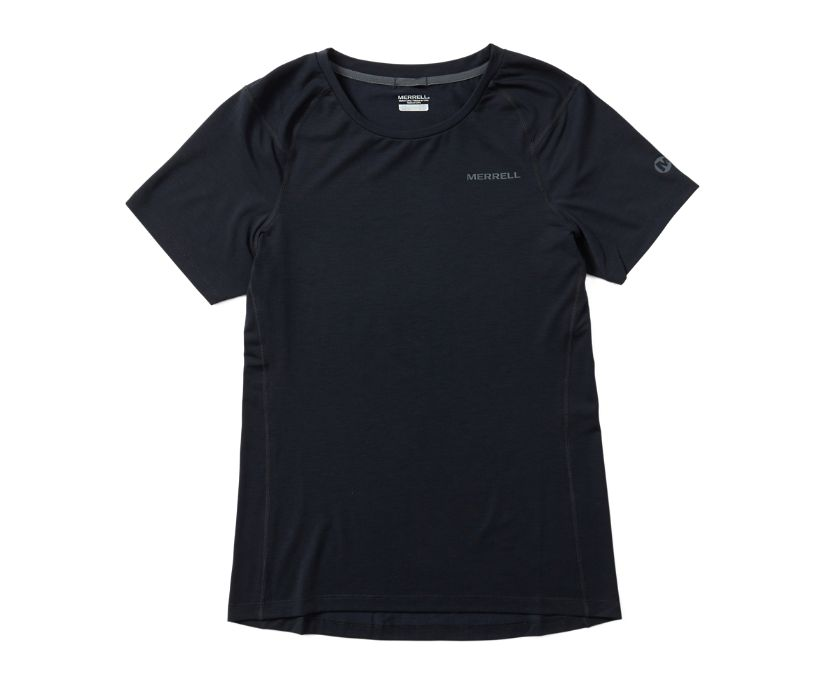 Tencel® Short Sleeve Tee with drirelease® Fabric, Black, dynamic