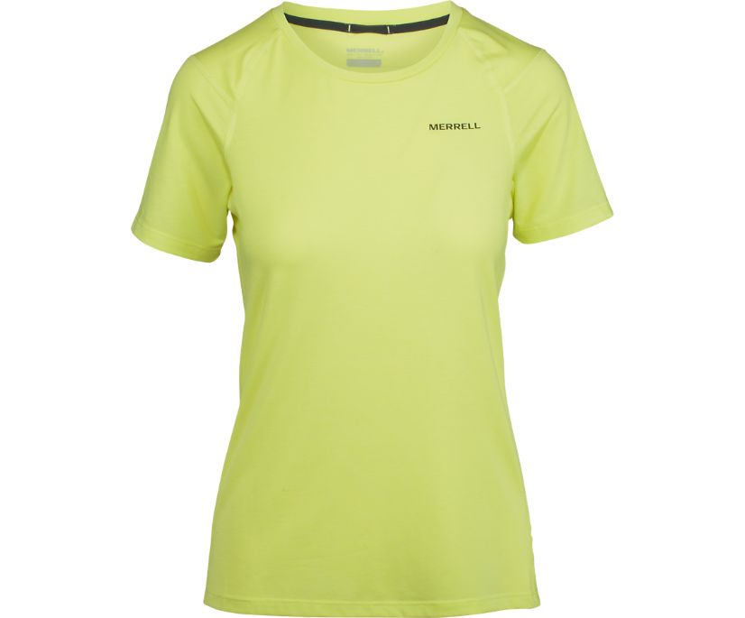 Tencel® Short Sleeve Tee with drirelease® Fabric, Sunny Lime, dynamic