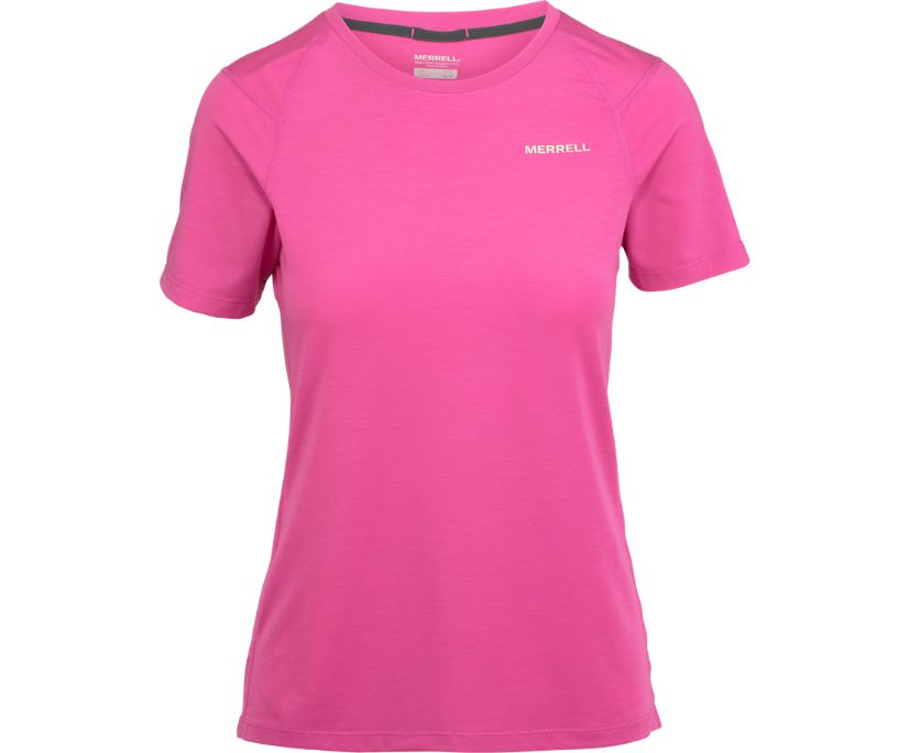 Tencel® Short Sleeve Tee with drirelease® Fabric, Rose Violet, dynamic