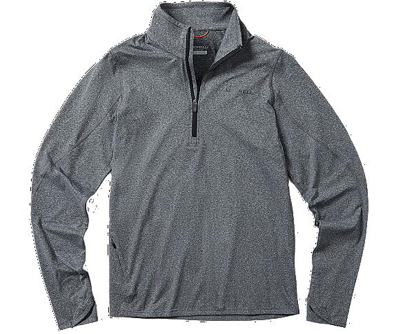 BetaTherm 1/4 Zip Mid-Layer Fleece, Black Heather, dynamic