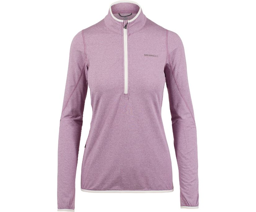 BetaTherm 1/4 Zip Mid-Layer Fleece, Very Grape, dynamic