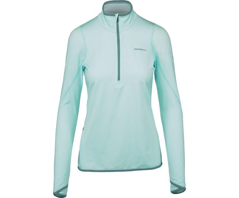 BetaTherm 1/4 Zip Mid-Layer Fleece, Bleached Aqua, dynamic