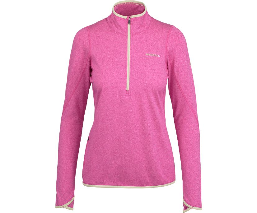 BetaTherm 1/4 Zip Mid-Layer Fleece, Rose Violet, dynamic