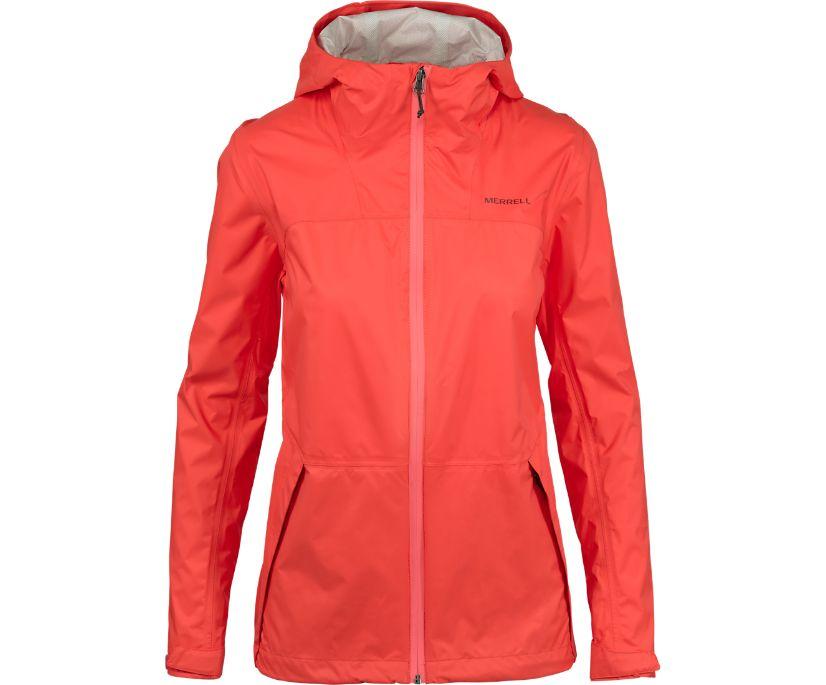 Fallon 4.0 Rain Jacket, Hot Coral, dynamic