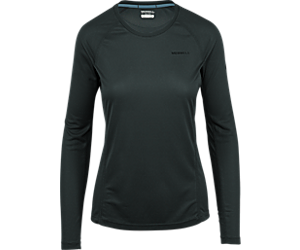 Entrada II Long Sleeve Tech Tee, Black, dynamic