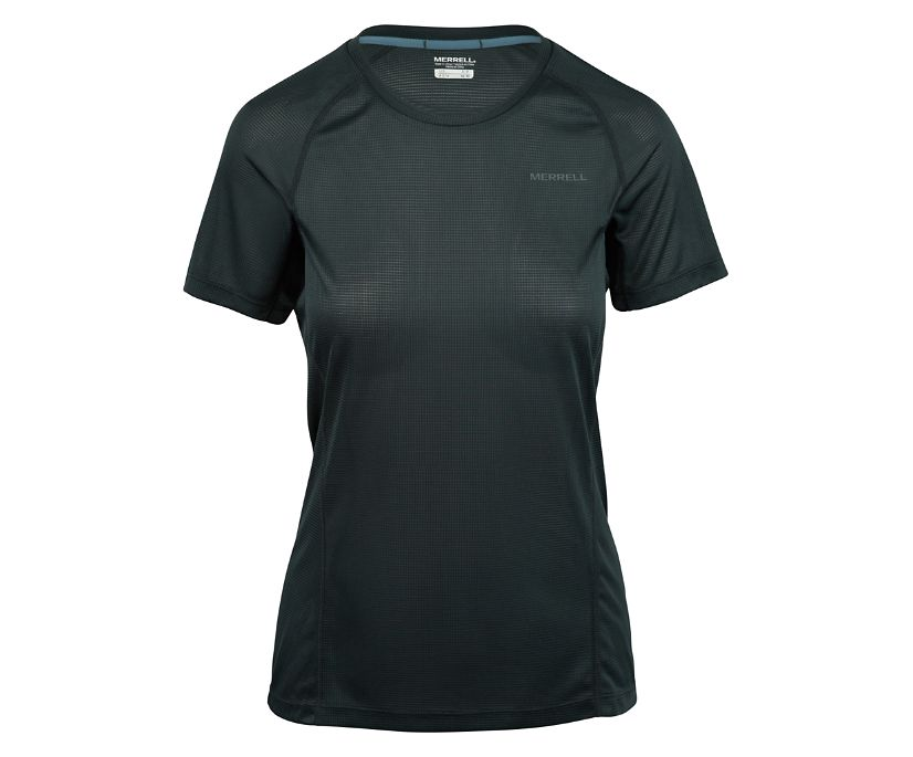 Entrada II Short Sleeve Tech Tee, Black/Asphalt, dynamic
