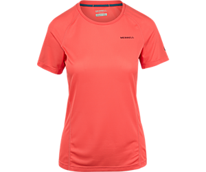 Entrada II Short Sleeve Tech Tee, Hot Coral, dynamic