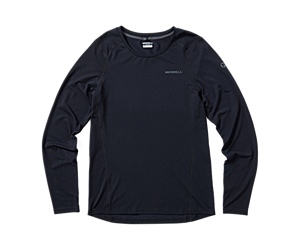 Tencel® Long Sleeve Tee with drirelease® Fabric, Black, dynamic