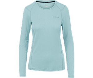 Tencel® Long Sleeve Tee with drirelease® Fabric, Blue Fog, dynamic