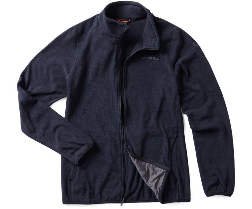 Flux Lightweight Hybrid Full Zip Fleece, Black, dynamic