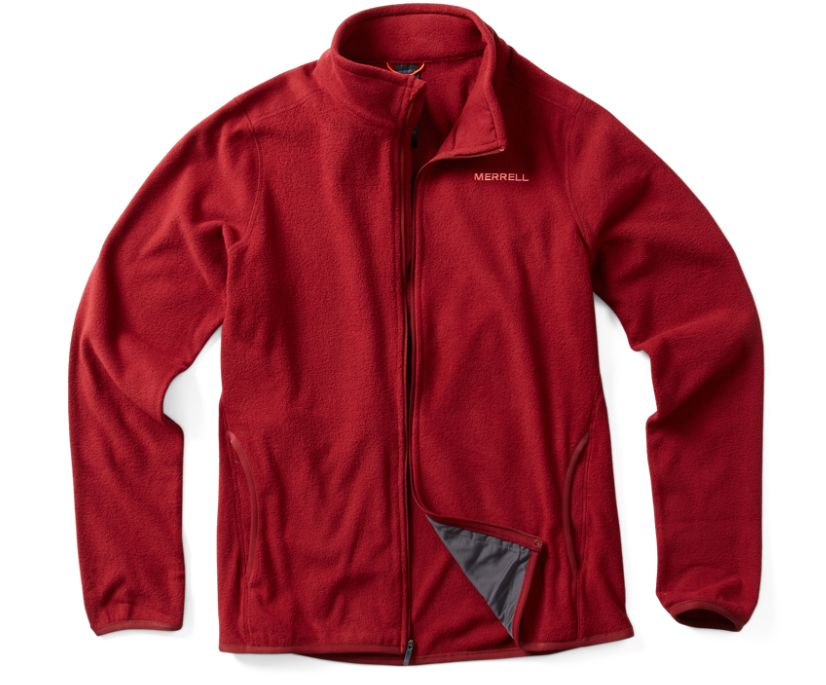 Flux Lightweight Hybrid Full Zip Fleece, Syrah, dynamic