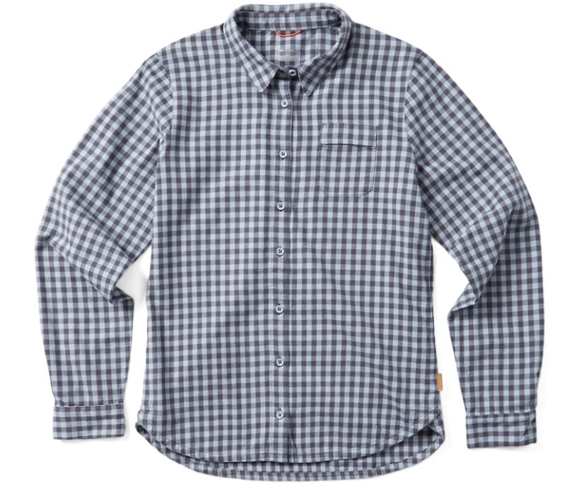 Trailhead Long Sleeve Flannel, Blue Fog, dynamic