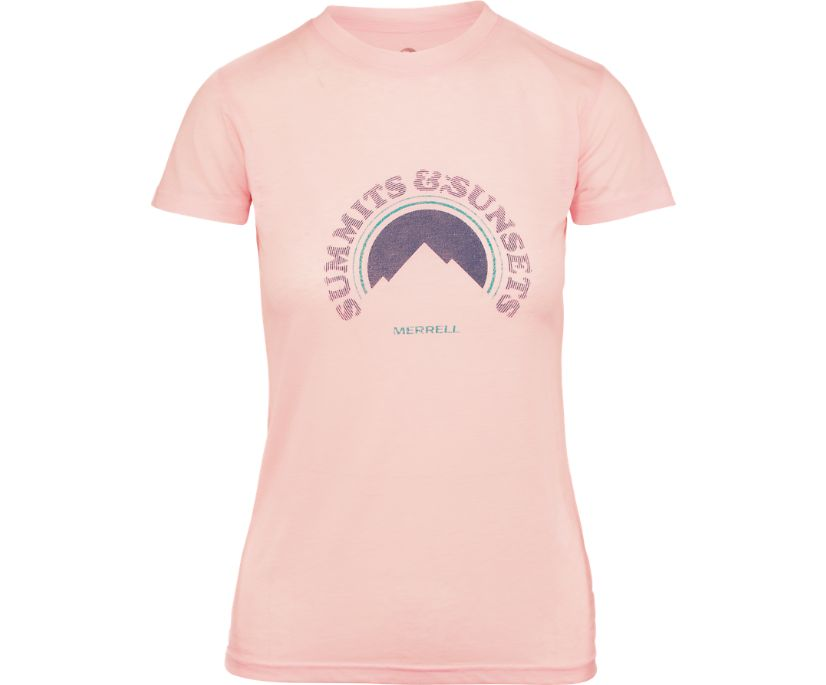 Summits and Sunsets Tee, Rose Smoke Heather, dynamic