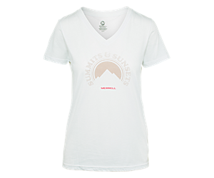 Summits and Sunsets Tee, White, dynamic