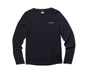 Tencel Long Sleeve Tee, Black, dynamic