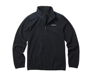 Terrain 1/4 Zip Fleece, Black, dynamic