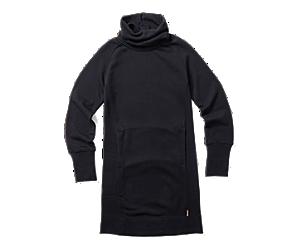 French Terry L/S Dress, Black, dynamic