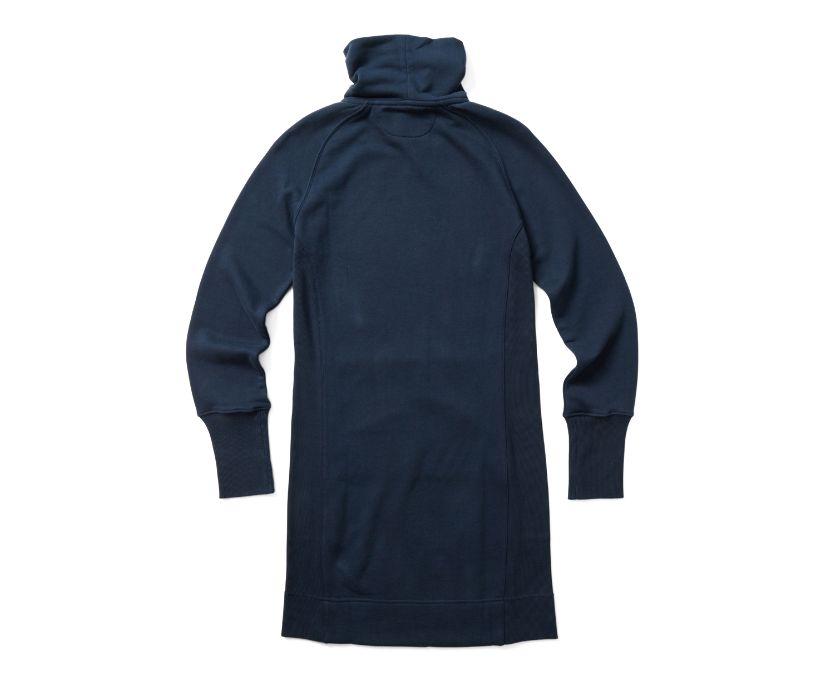French Terry L/S Dress, Navy, dynamic