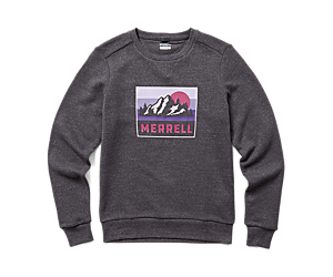 Postcard Crewneck, Asphalt Heather, dynamic