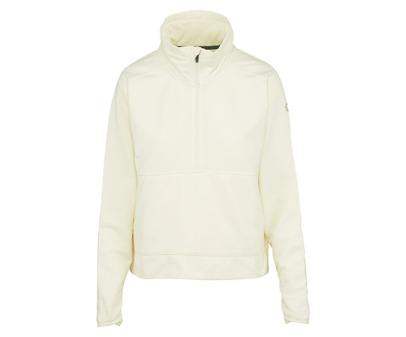 Timber 1/4 Zip, Chalk Heather, dynamic