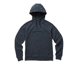 Diamond Wordmark Pullover Hoody, Navy Heather, dynamic