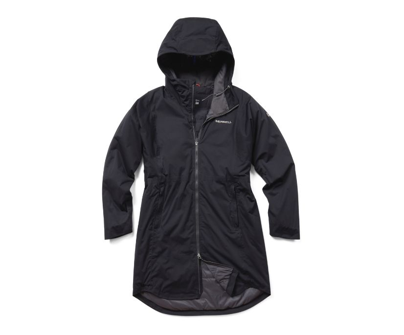 Whisper Rain Insulated Parka, Black, dynamic