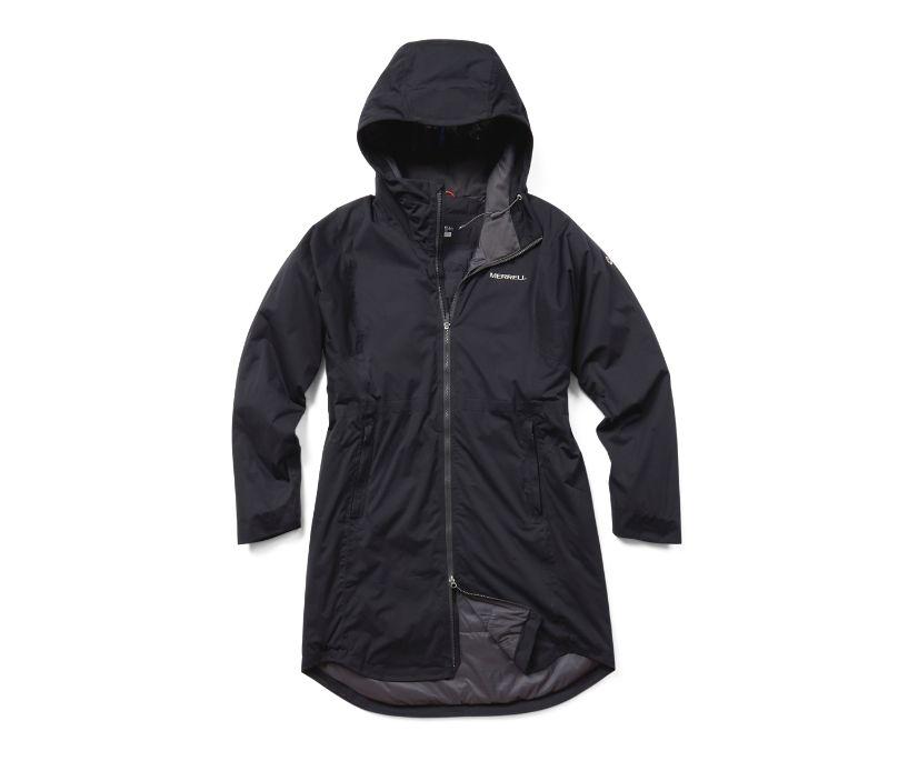 Whisper Rain Insulated Parka, Black, dynamic