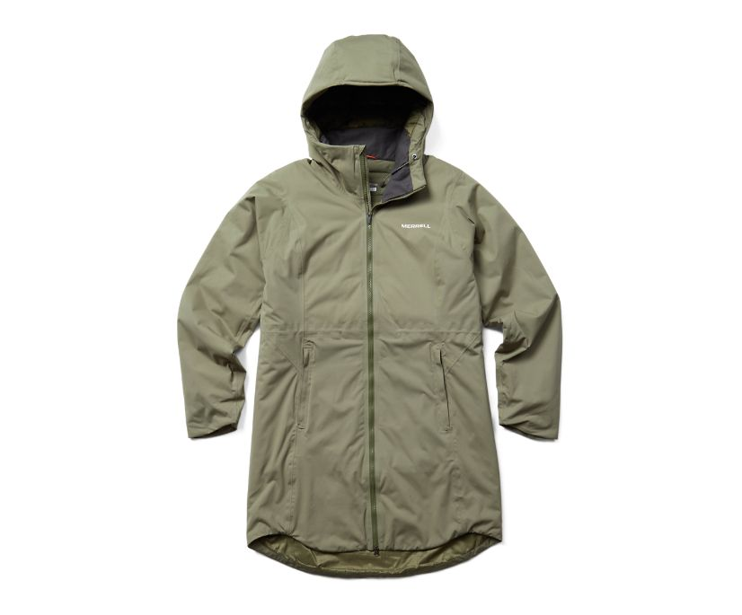 Whisper Rain Insulated Parka, Lichen, dynamic