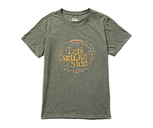 Let's Get Outside Short Sleeve Tee, Olive Heather, dynamic