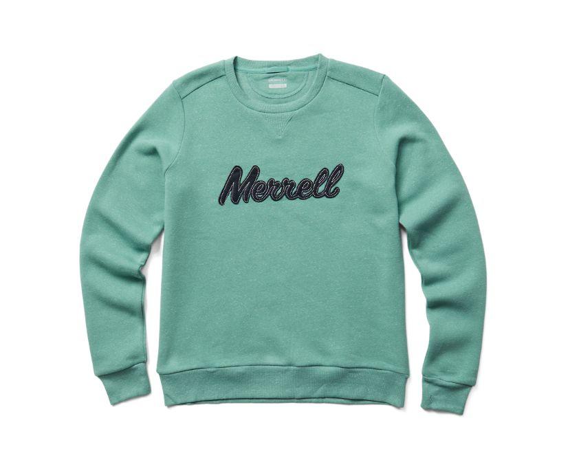 Merrell Script Crewneck Fleece, Mineral Heather, dynamic