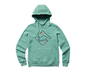 Diamond Pullover Hoodie, Mineral Heather, dynamic