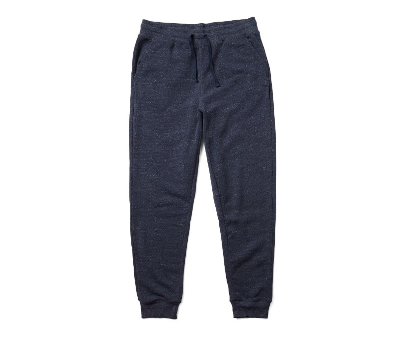 Fleece Jogger, Navy Heather, dynamic