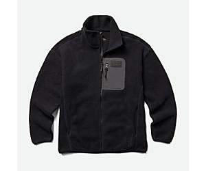 Ko-Dou Sherpa Fleece Full Zip, Black, dynamic