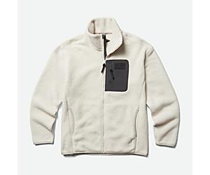 Ko-Dou Sherpa Fleece Full Zip, Moonbeam, dynamic