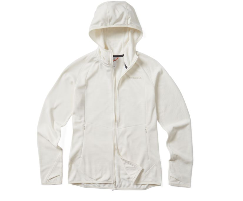 Entrada Geotex Long Sleeve Full Zip, Whisper White Heather, dynamic