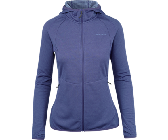 Entrada Geotex Long Sleeve Full Zip, Twilight Purple Heather, dynamic