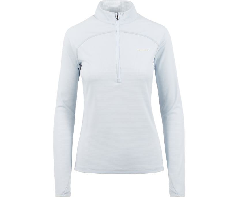 Lightweight Long Sleeve 1/4 Zip Mid-Layer with Drirelease® Fabric, Plein Air Heather, dynamic