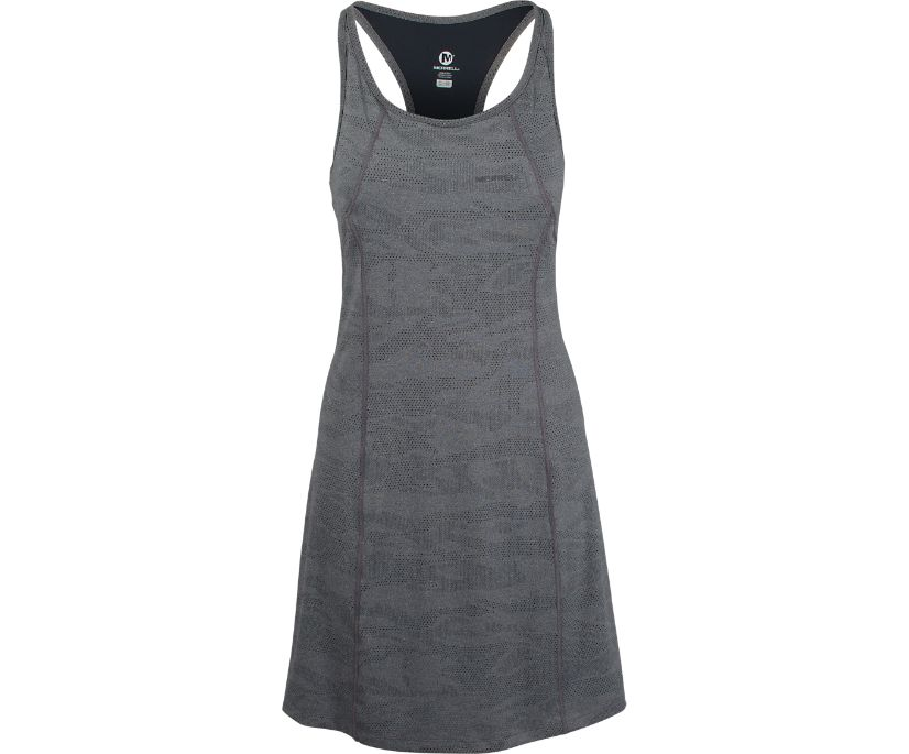 Entrada Dress, Black Heather, dynamic