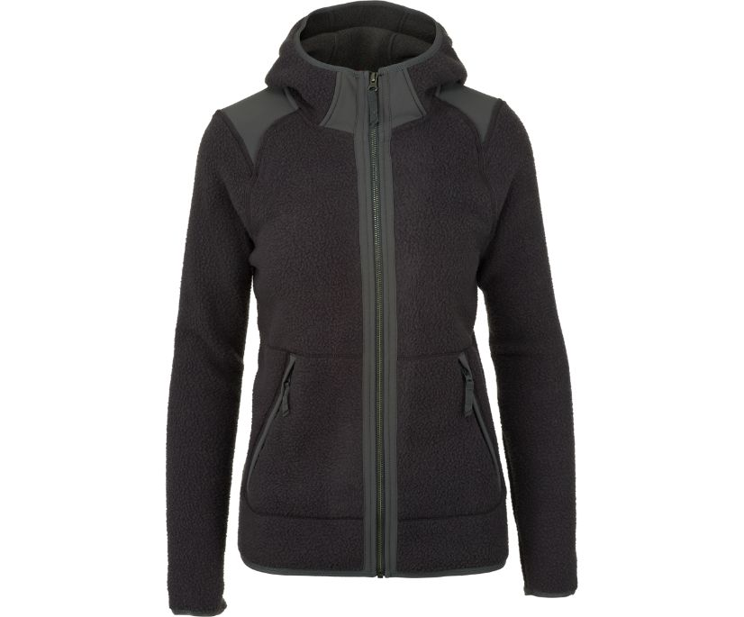 Flux Heavy Weight Sherpa Fleece, Asphalt/High Rise, dynamic