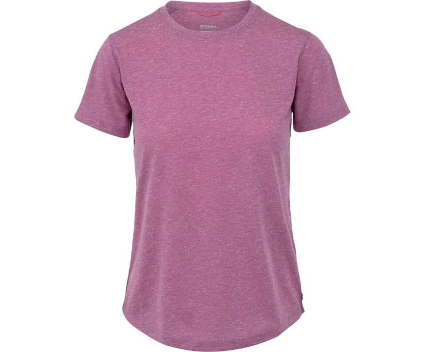 Trailhead Short Sleeve Crewneck Top, Rose Violet, dynamic