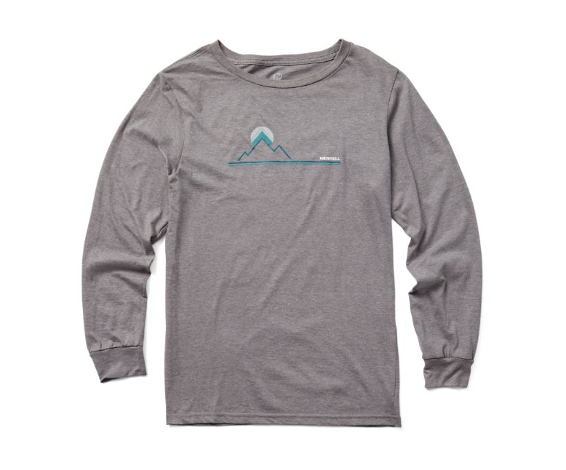 Mountainscape Graphic T-Shirt, Grey Heather, dynamic