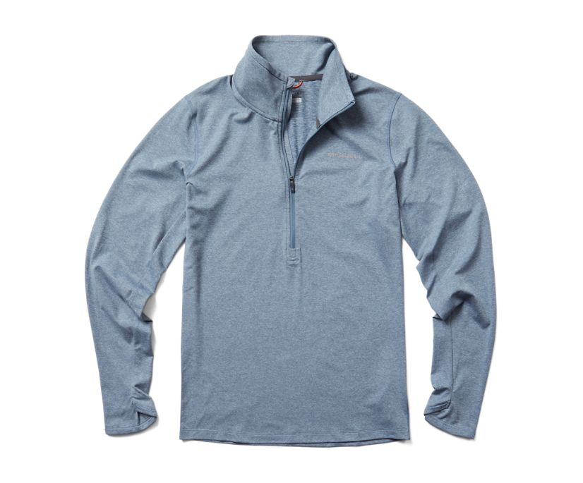 BetaTherm 1/4 Zip, Stonewash Heather, dynamic