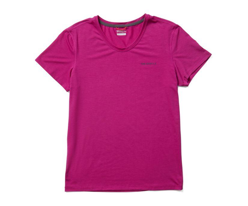 Tencel™ Short Sleeve Tee, Fuchsia, dynamic