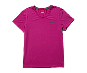 Tencel™ Short Sleeve Tee, Fuchsia, dynamic